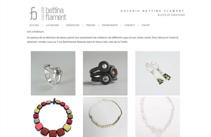 Bettina Flament bijoux de créateurs